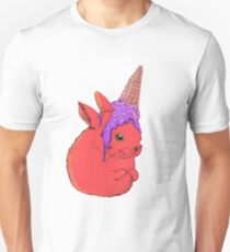 red bunny and icecream Unisex T-Shirt