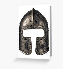 Medieval Armour Helmet Greeting Card
