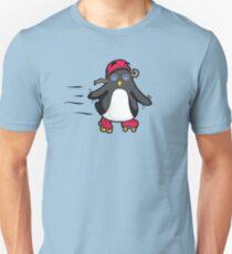 Little Baby Penguin Roller Skate Time! Unisex T-Shirt