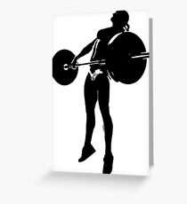 Crossfit - Girl Snatch Greeting Card
