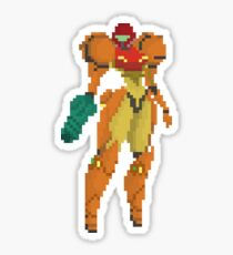 Samus - Metroid 8bit Sticker