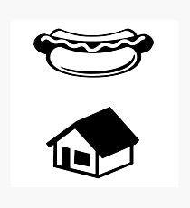 Ghostbusters Hotdog House Logo Photographic Print