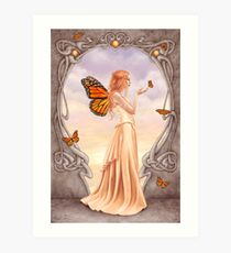 Citrine Birthstone Fairy Art Print