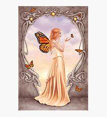 Citrine Birthstone Fairy Photographic Print
