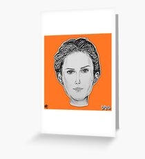(The Most Beautiful Woman - Natalie Portman) - yks by ofs珊 Greeting Card