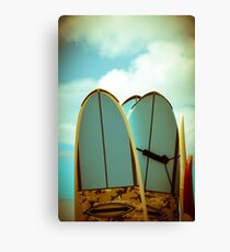 Vintage Surf Boards Canvas Print