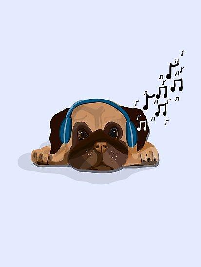 Musical Pug by Prettyinpinks