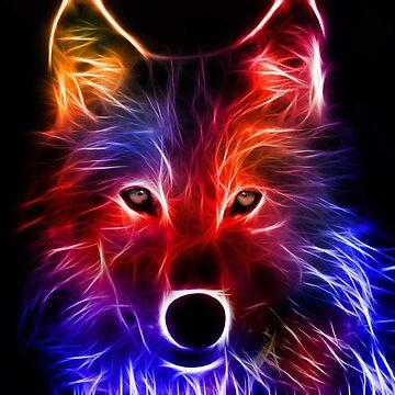 Dark wolf by Takaomii