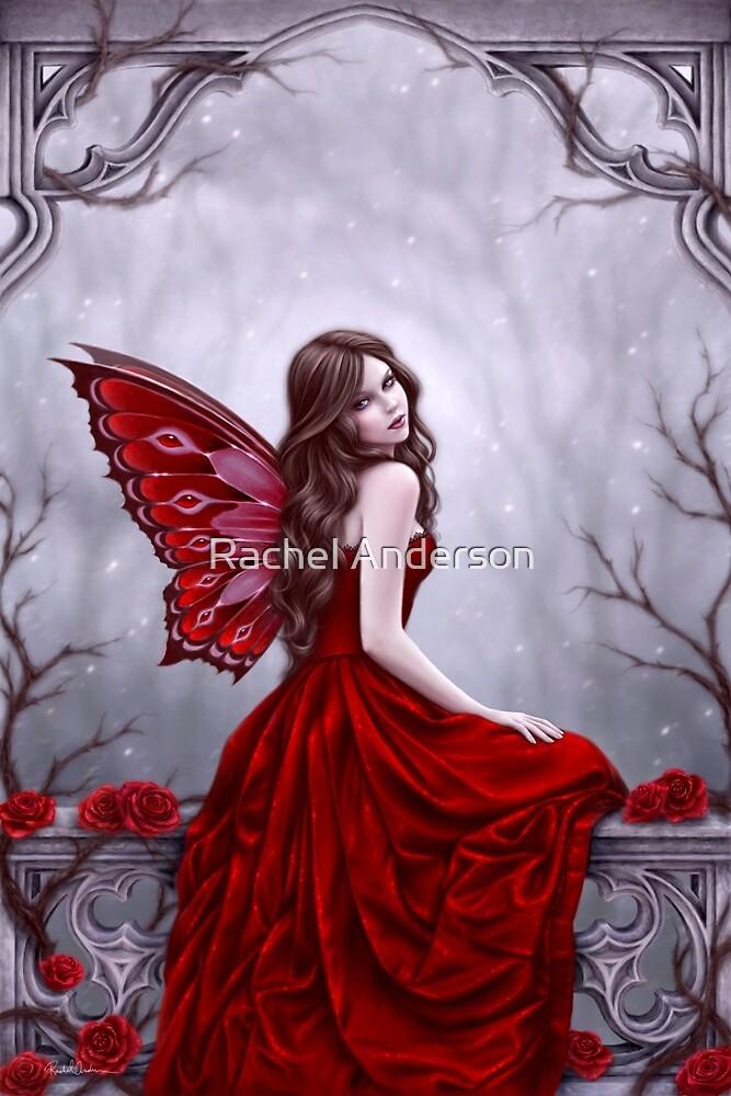 Winter Rose Butterfly Fairy by Rachel Anderson