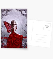 Winter Rose Butterfly Fairy Postcards