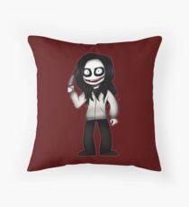 Jeff the Killer chibi Throw Pillow