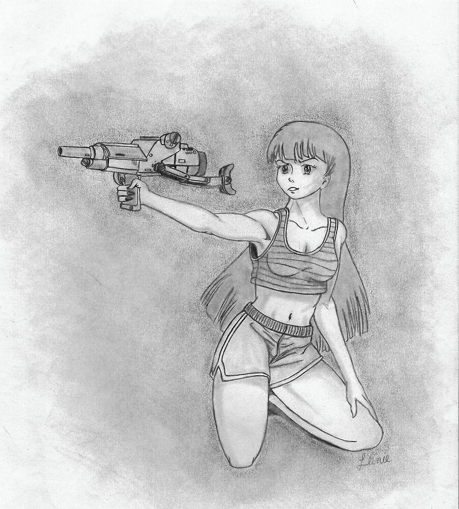girl with gun by LeeFrancoeur