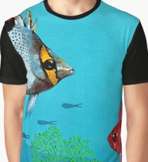 Butterfly & Bigeye fishes Graphic T-Shirt