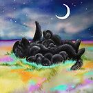 Newfie family bedtime by Patricia Reeder Eubank