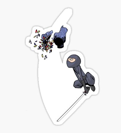 Ninja Piñata Sticker