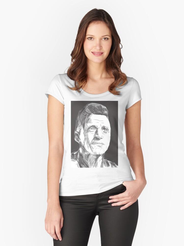 Alexis Sanchez Women's Fitted Scoop T-Shirt Front