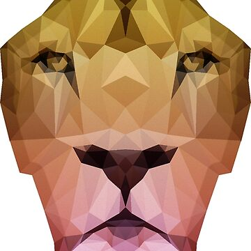 Low Poly Lion Shirt by elmerbets
