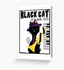 Black Cat playing Jazz Greeting Card