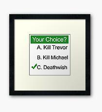 GTA 5 Deathwish Framed Print