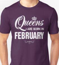 Camiseta unisex Camiseta Queens Are Born in February