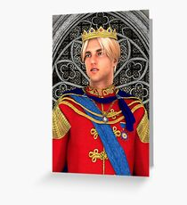 Prince in Fairytale Palace Greeting Card