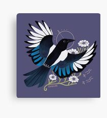 Familiar - European Magpie Canvas Print