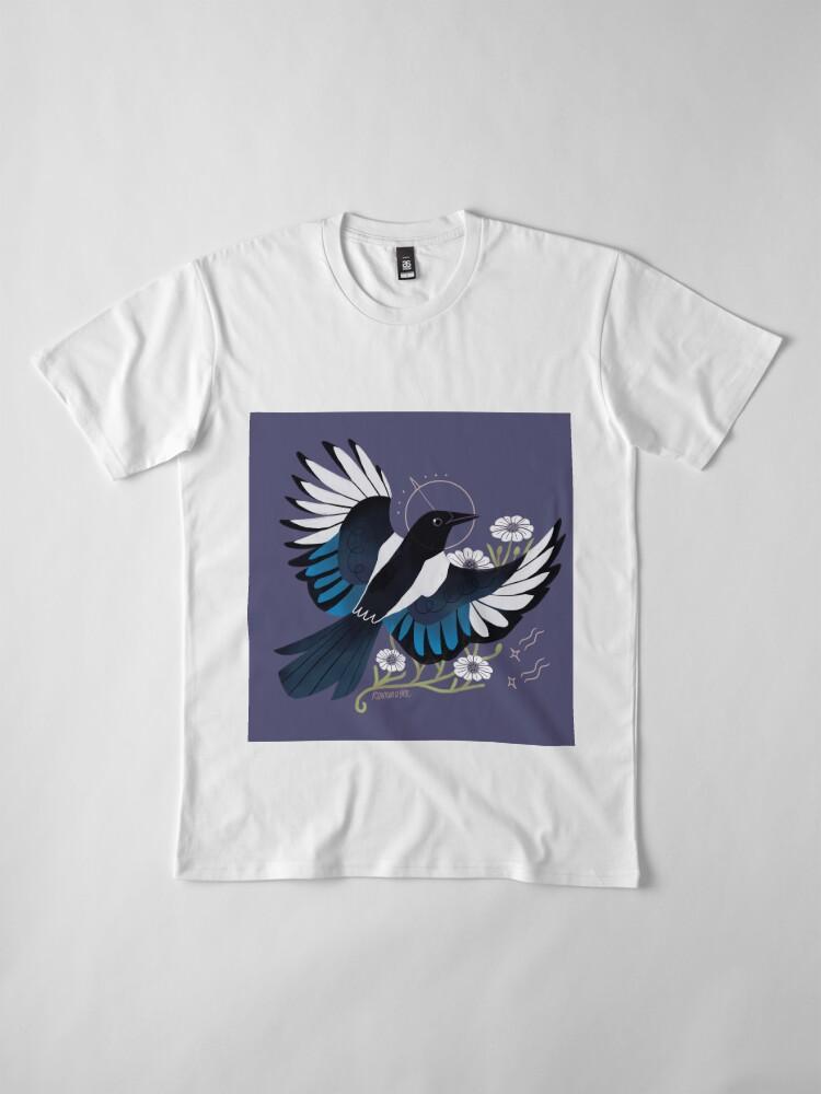 Vista alternativa de Camiseta premium Familiar - urraca europea