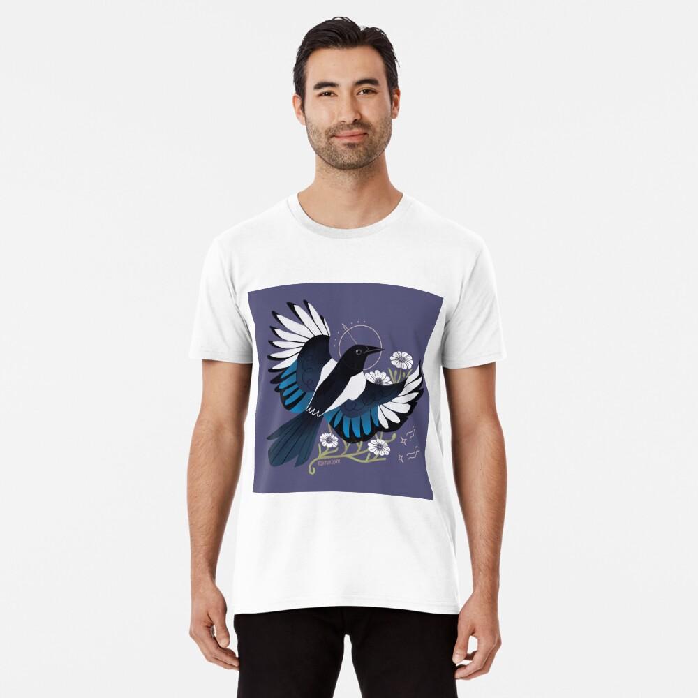 Familiar - urraca europea Camiseta premium