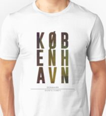 Copenhagen City Name Print T-Shirt