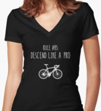 Rule 85 – Descend like a pro Women's Fitted V-Neck T-Shirt