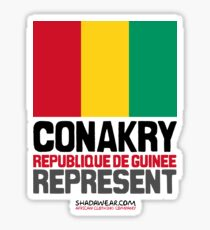 Conakry, Republique de Guinée. Represent Sticker