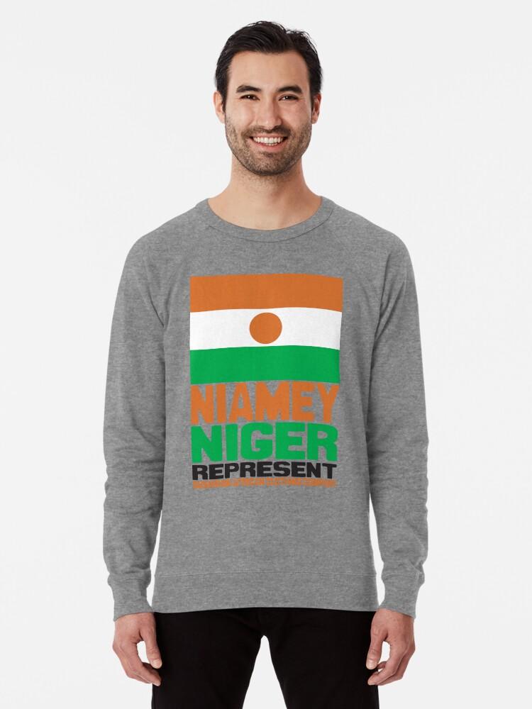 'Niamey, Niger, Represent' Lightweight Sweatshirt by kaysha