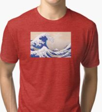 The Great Wave off Kanagawa - Hokusai Tri-blend T-Shirt