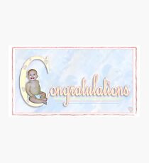 Congratulations Photographic Print