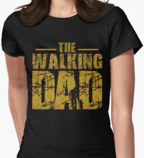 The Walking Dad - Father's Gift Womens Fitted T-Shirt