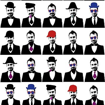 Mustaches and Hats by gryffon