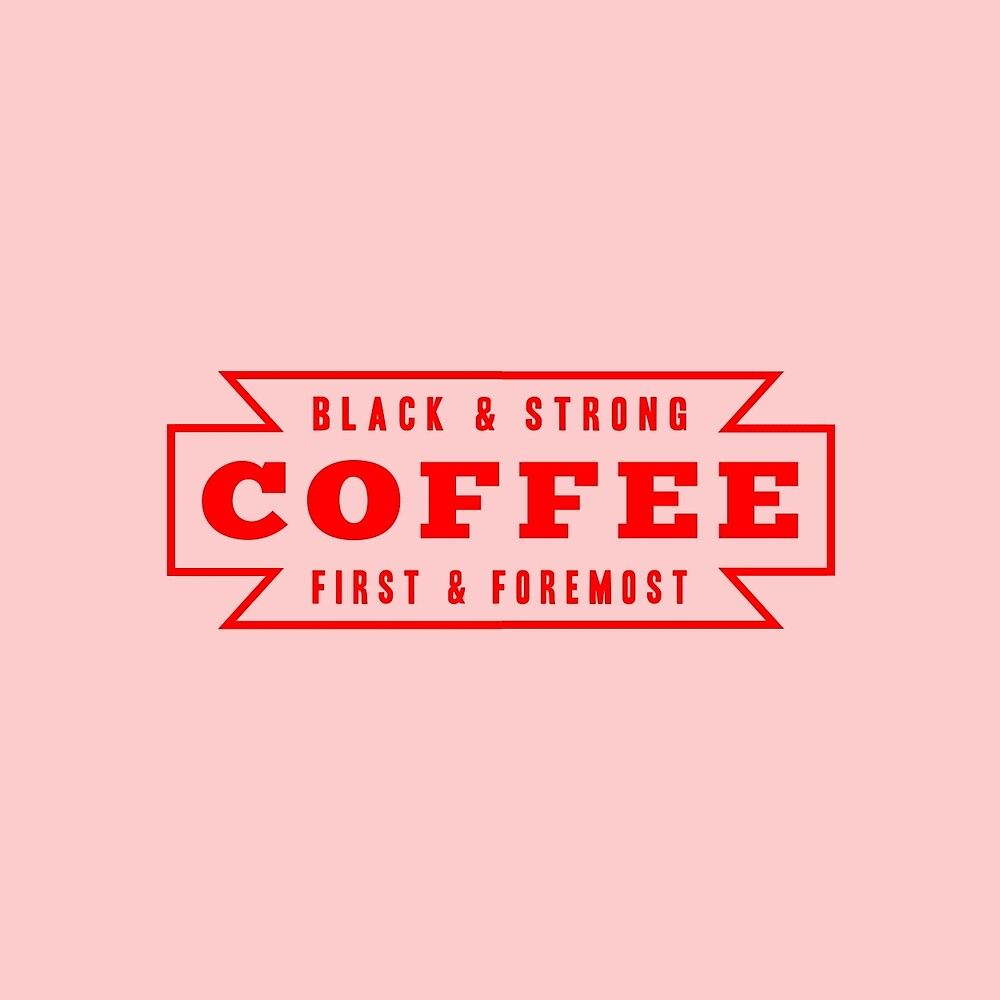 Coffee First in Red by AmberGilded