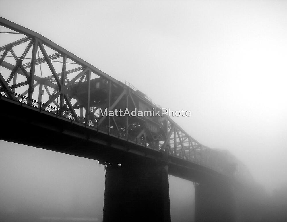 Broadway Bridge in Fog by MattAdamikPhoto