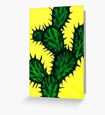 Chinese brush painting - Opuntia cactus. Greeting Card