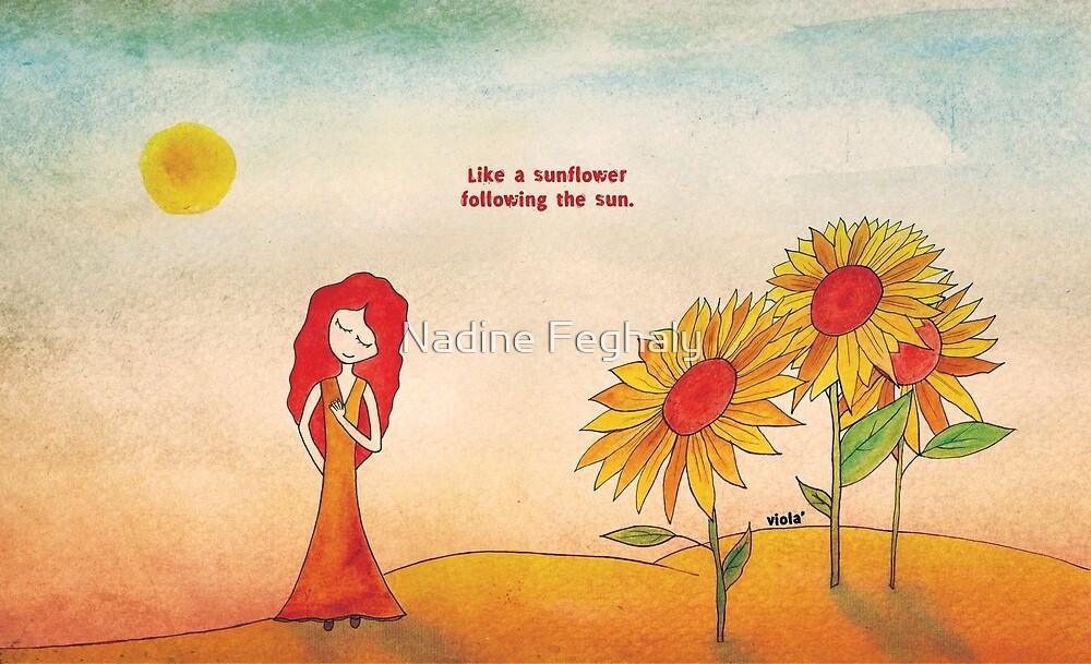 Like a sunflower by Nadine Feghaly