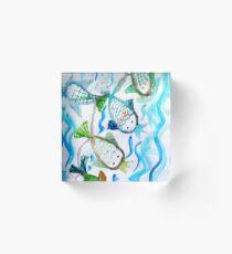 COLOR FISH Acrylic Block