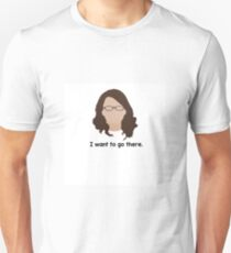 "30 Rock ""I want to go there."" Liz Lemon quote T-Shirt"