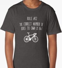 Rule 12 – The correct number of bikes to own is N+1 Long T-Shirt