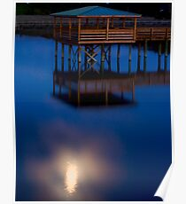 Moonlit Dock Poster