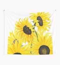 gelbe Sonnenblumen 2017 Wandbehang