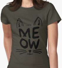 Meow Cat - T-shirt Womens Fitted T-Shirt