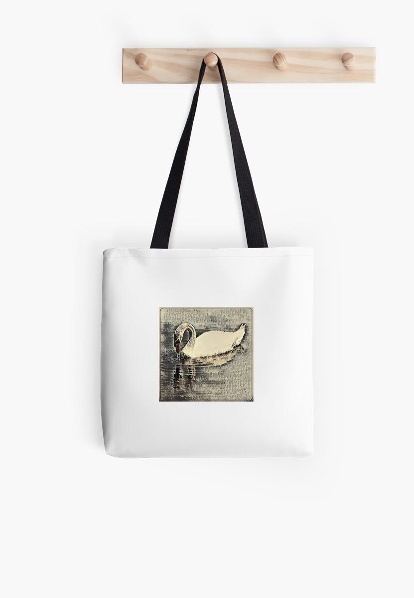 Japanese art print swan by Keywebco