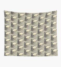 Japanese art print swan Wall Tapestry