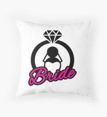 Bride Ring Throw Pillow