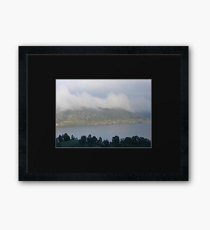 Veiled by Morning Mist Framed Print